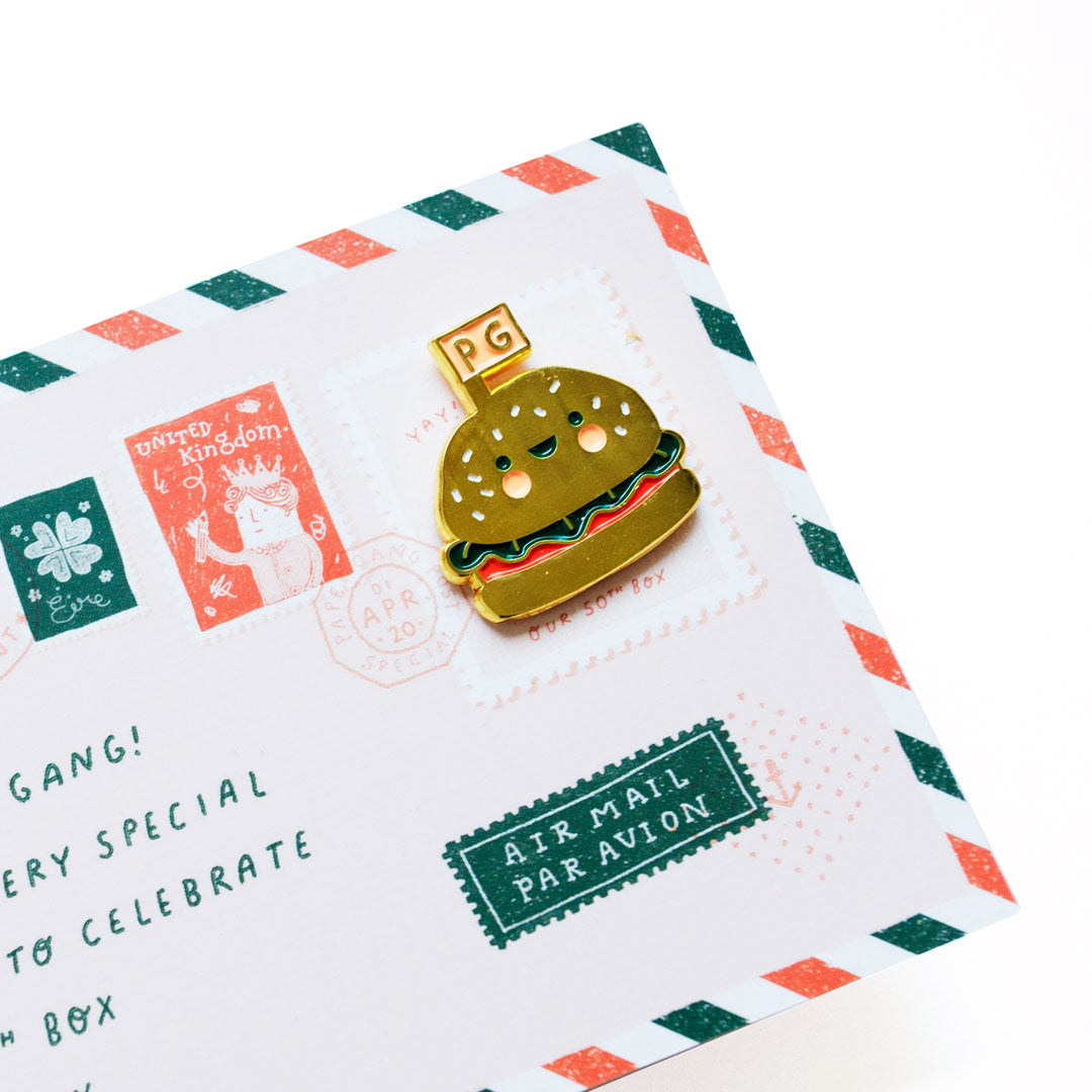 Mr Burger Enamel Pin