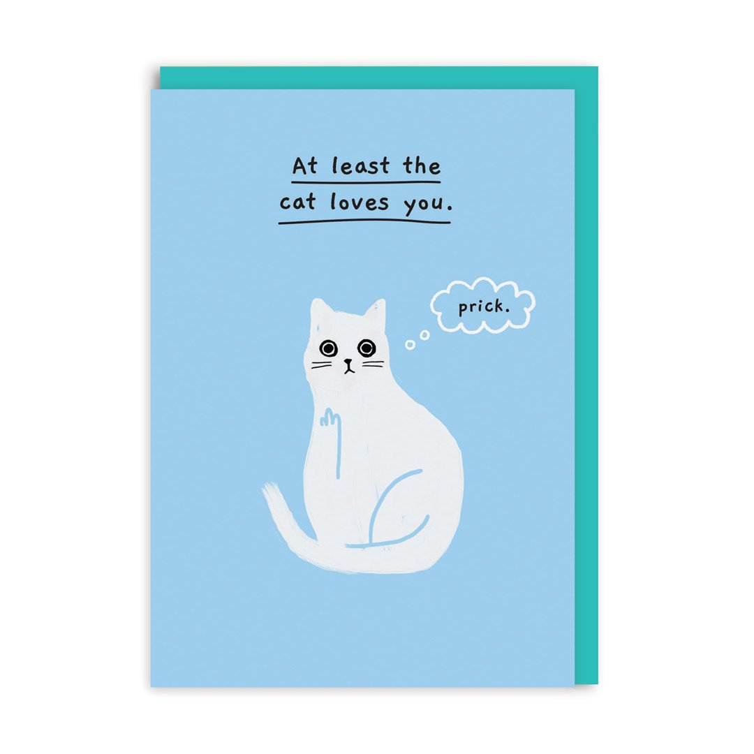 At least the cat loves you Greeting Card