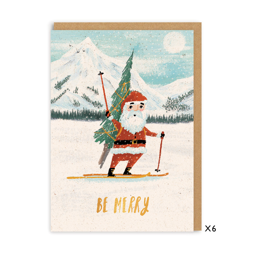 Be Merry A7 Christmas Card Set of 6