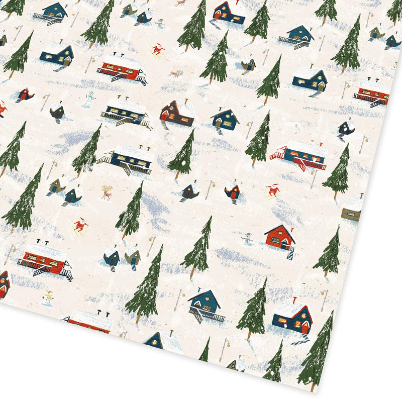 Christmas Winter Cabins Giftwrap