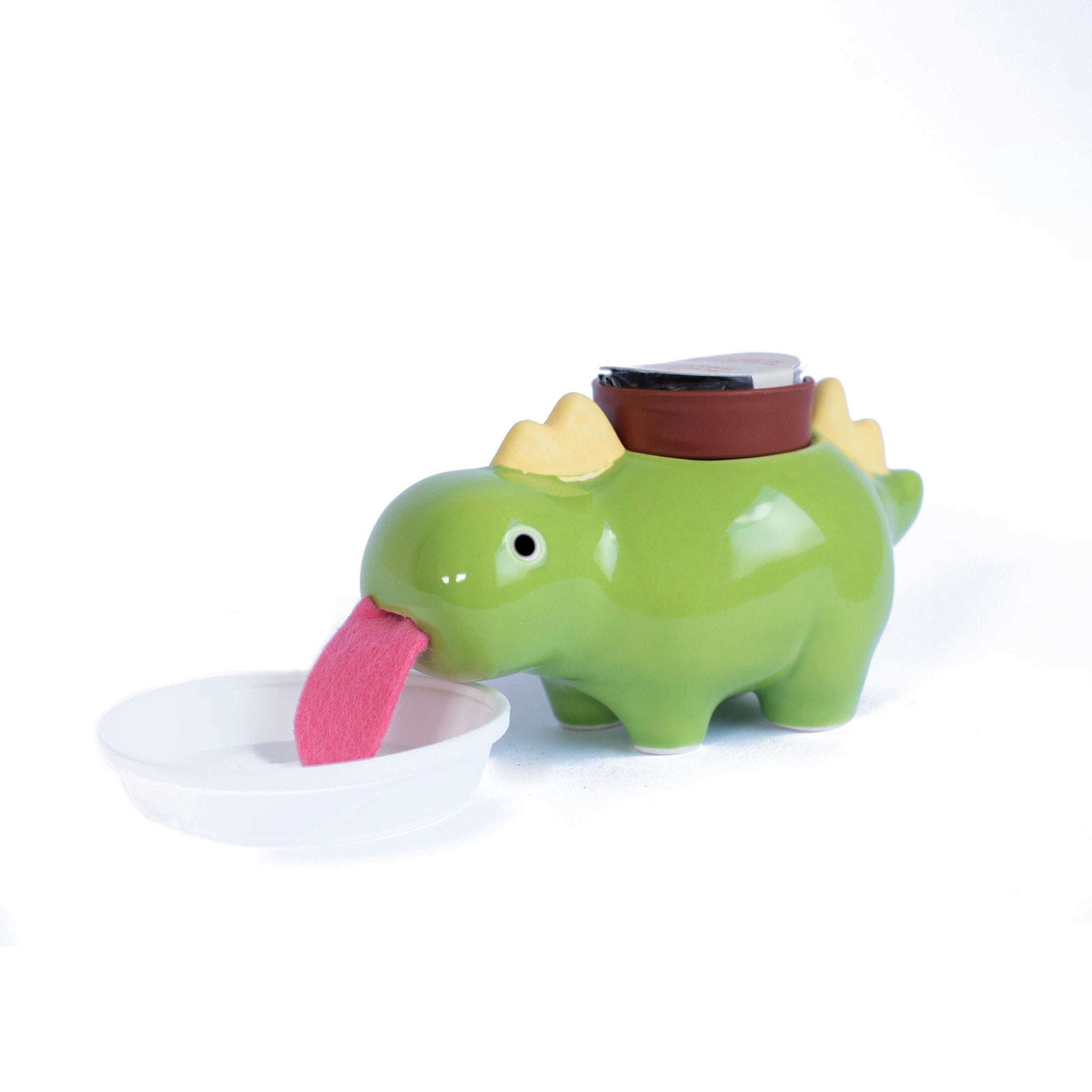 Green Zaurus Self Drinking Lucky Clover Planter