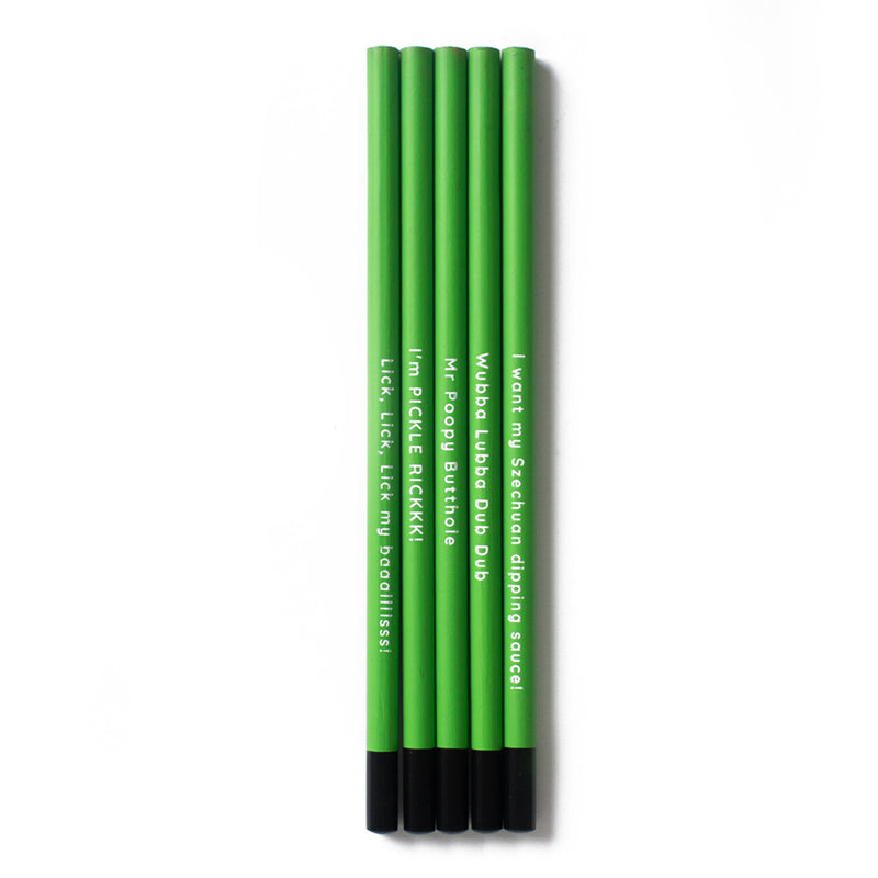 Rick and Morty Pencil Set