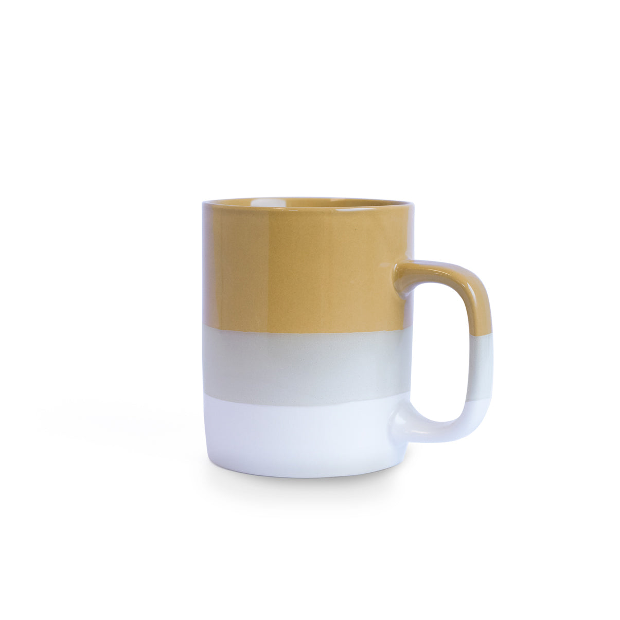 Mustard Yellow & White Mug