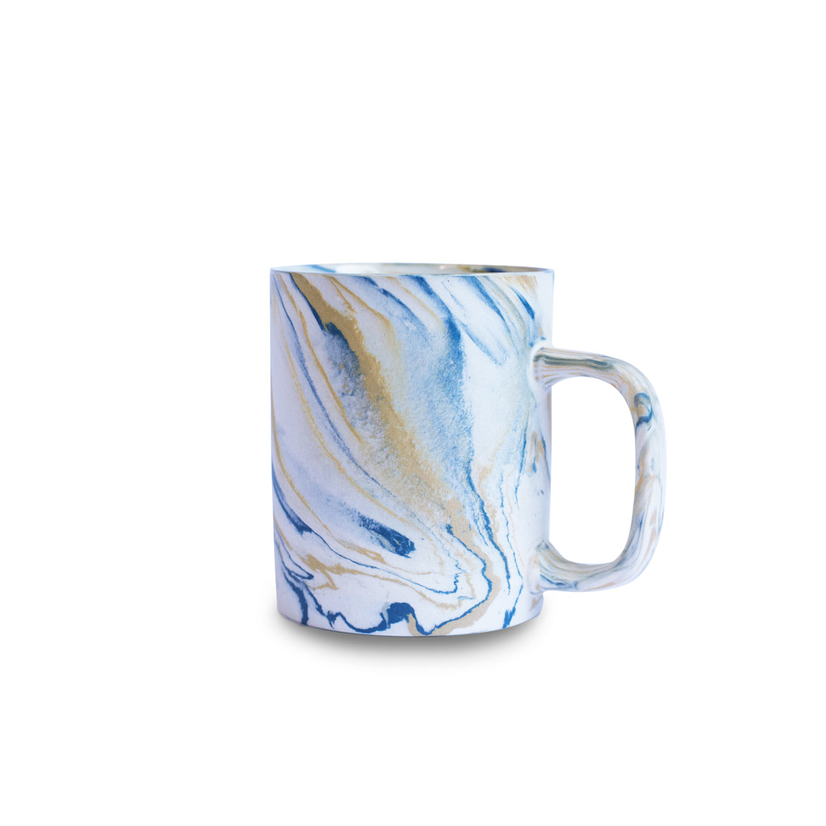 Marble Mustard Yellow & Blue Mug