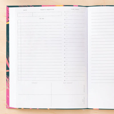 Ultra Pink Marble Daily Planner