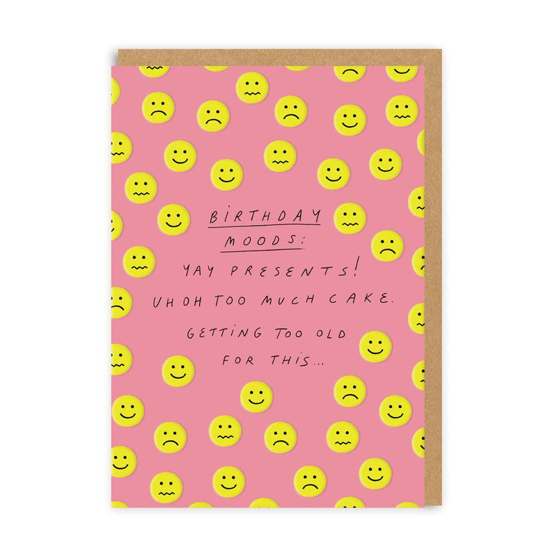 Birthday Moods Greeting Card