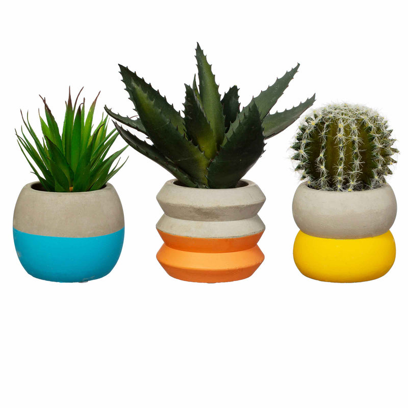 Mini Colour Block Cement Planter