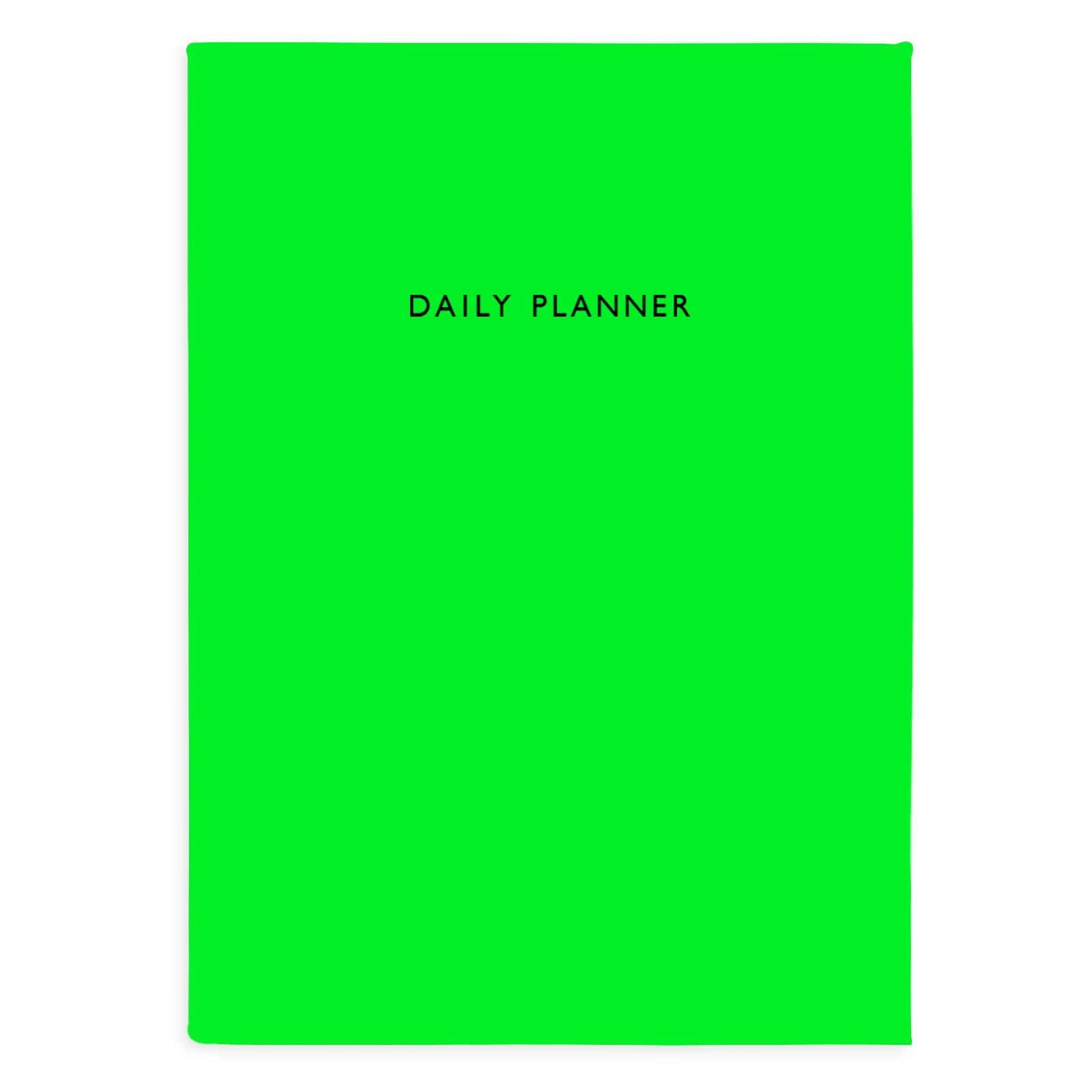 OUTLET Neon Green Daily Planner