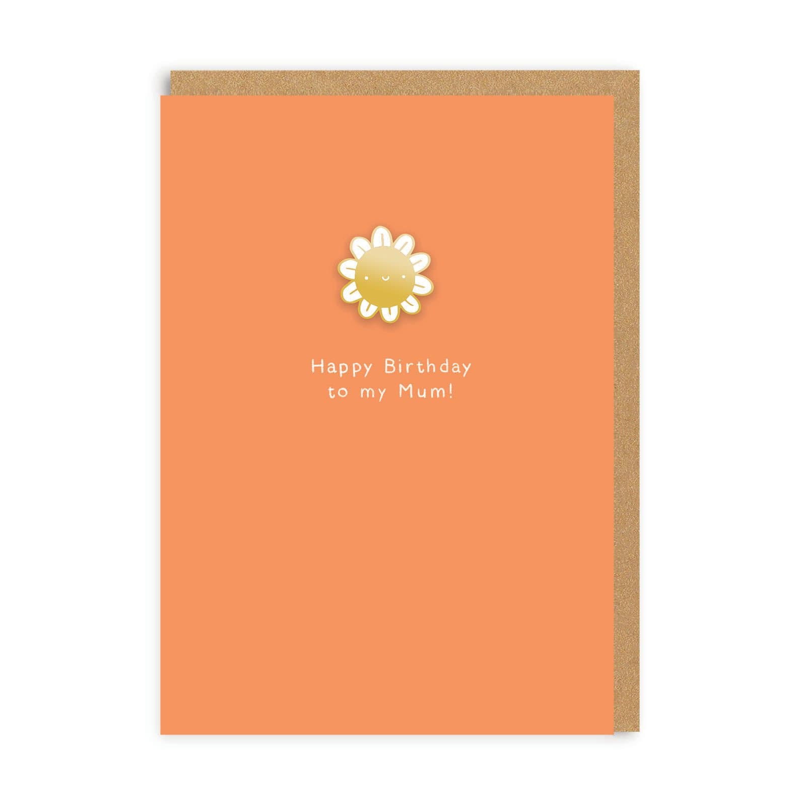 Happy Birthday Mum Enamel Pin Greeting Card