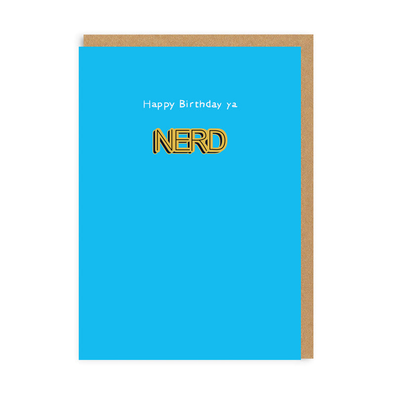 Ya Nerd Enamel Pin Greeting Card