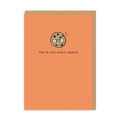 Graduation Smart Cookie Enamel Pin Greeting Card