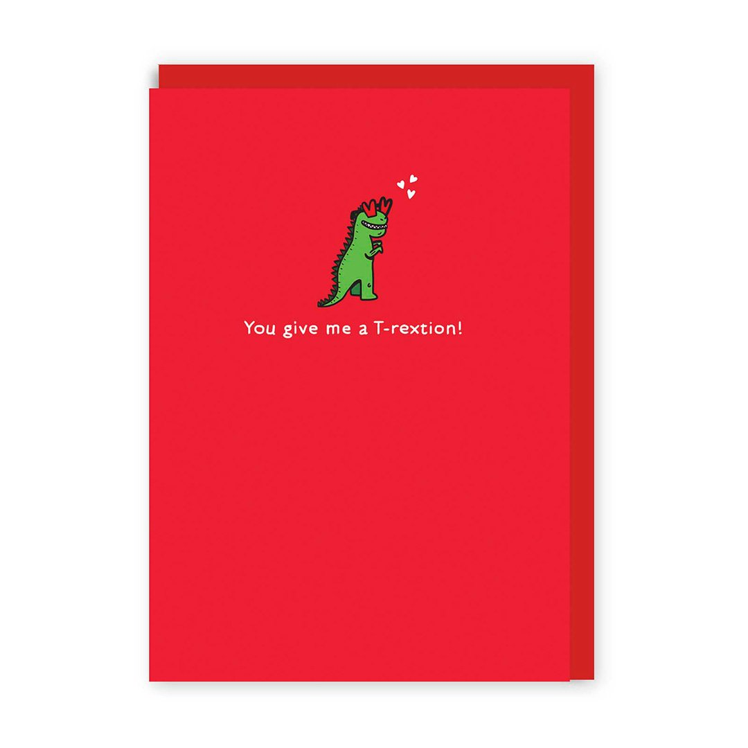 T-Rextion Enamel Pin Greeting Card