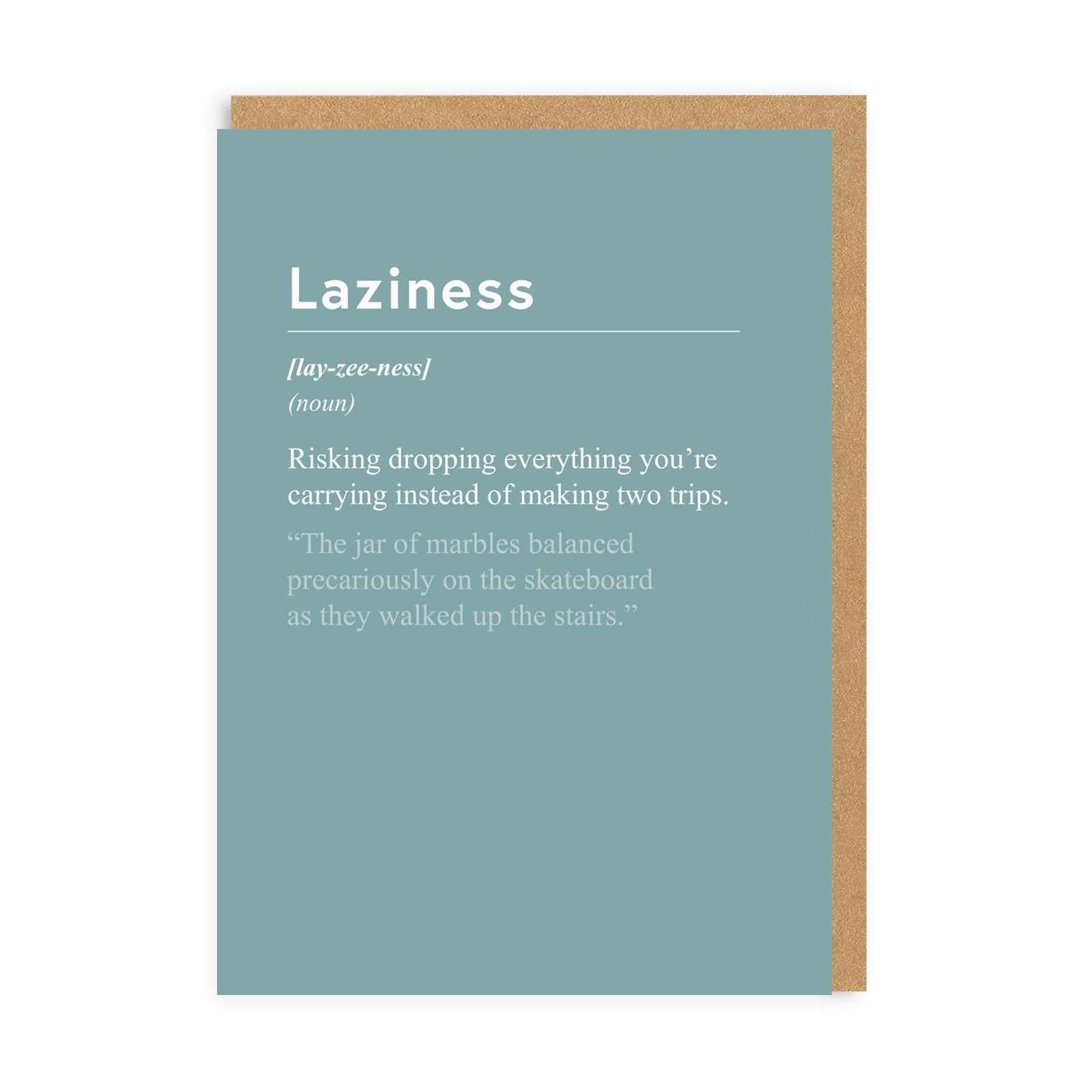 Laziness Greeting Card