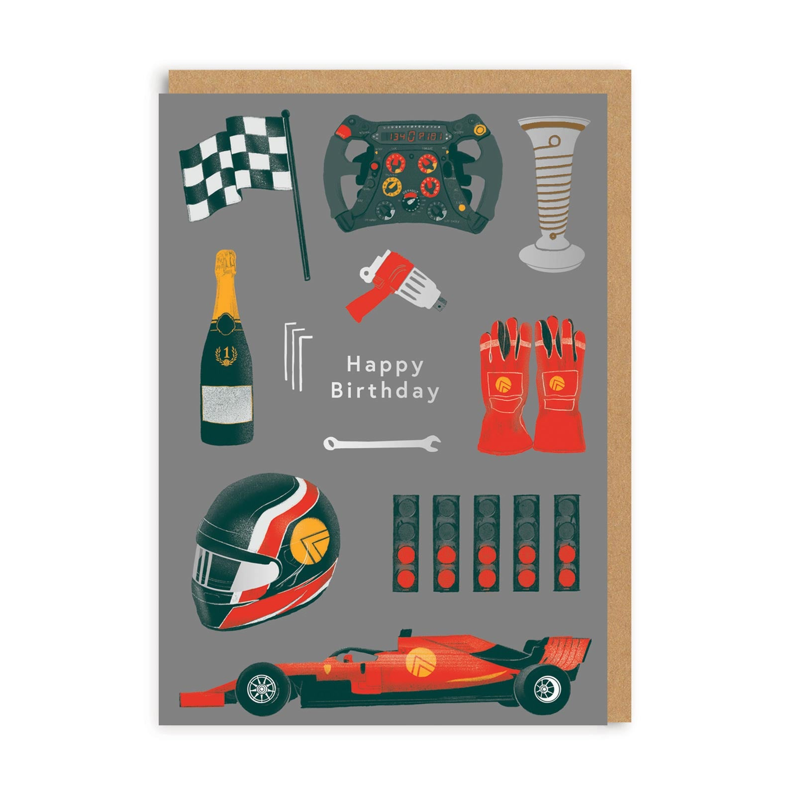 Happy Birthday F1 Greeting Card