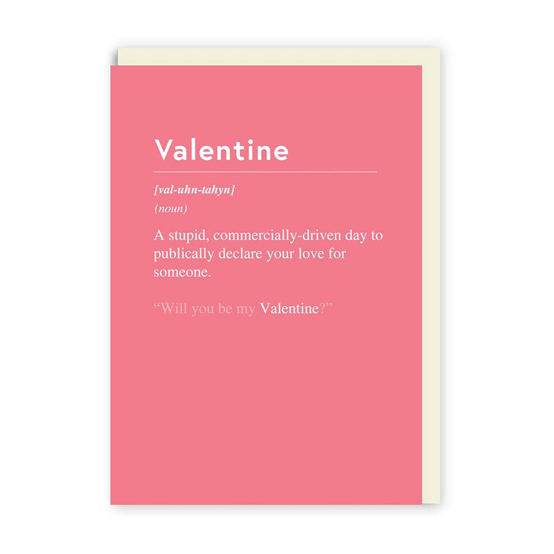 Valentines Commercially Driven Day Greeting Card