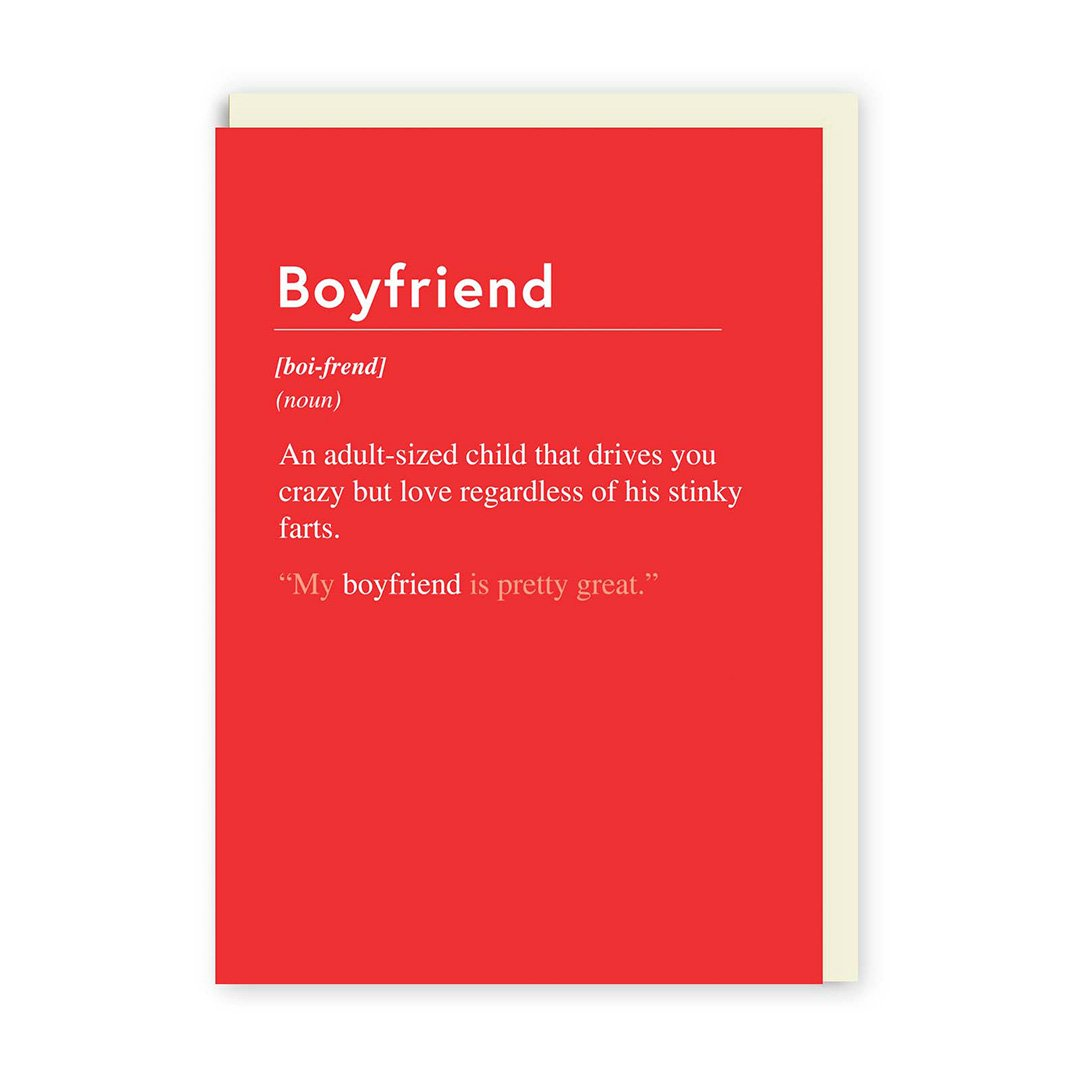 Boyfriend an Adult Sized Child Greeting Card
