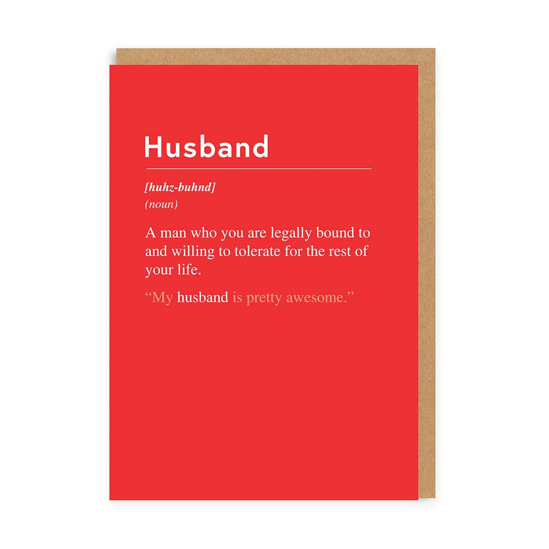 Husband, Willing To Tolerate You Greeting Card