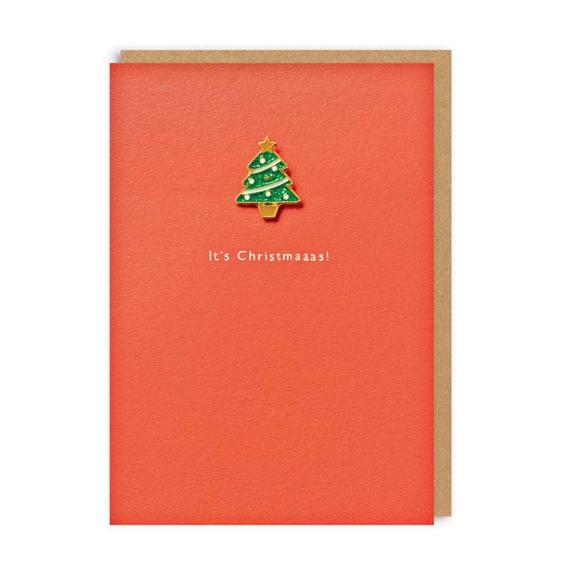 It's Christmaaas! Enamel Pin Christmas Card