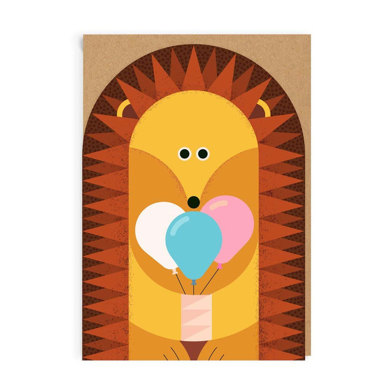 Birthday Hedgehog Greeting Card