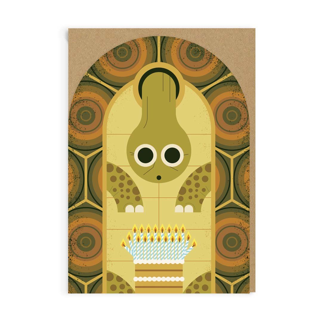 Birthday Tortoise Greeting Card