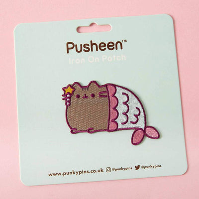 Pusheen Mermaid Iron On Patch