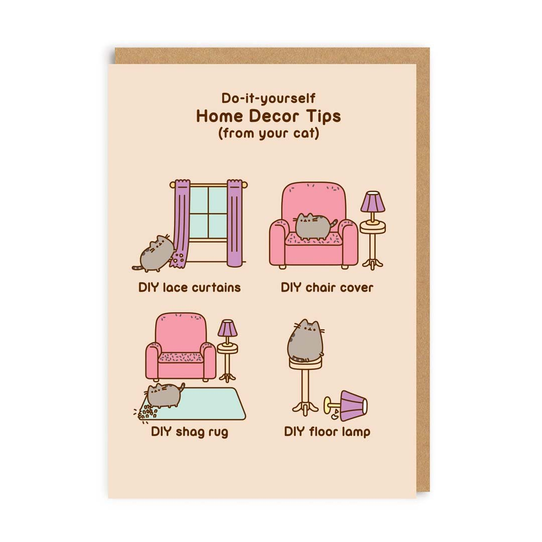 Pusheen Home Decor Tips Greeting Card
