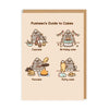 Pusheen's Guide To Cakes Greeting Card