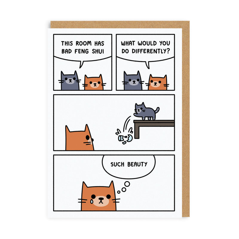 Bad Feng Shui Greeting Card