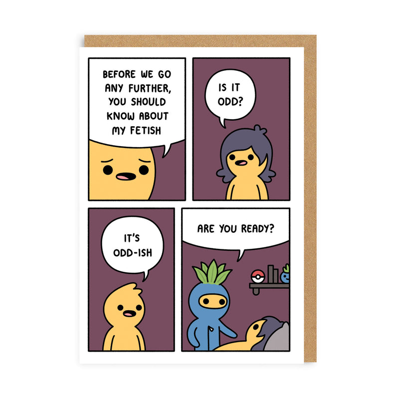 Odd Fetish Greeting Card
