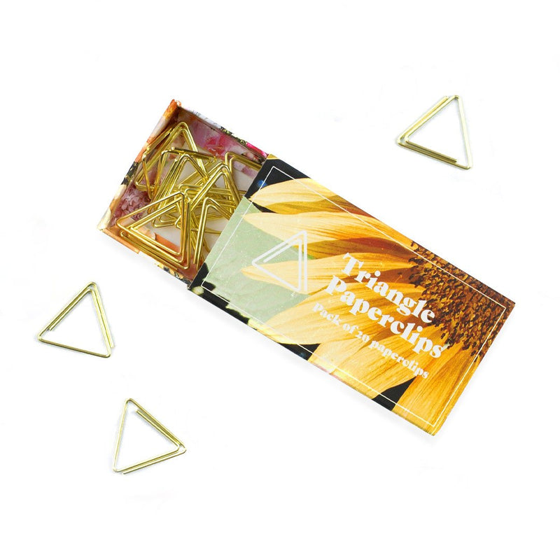 Gold Triangle Paper Clips