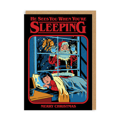 He Sees You When You're Sleeping Christmas Card