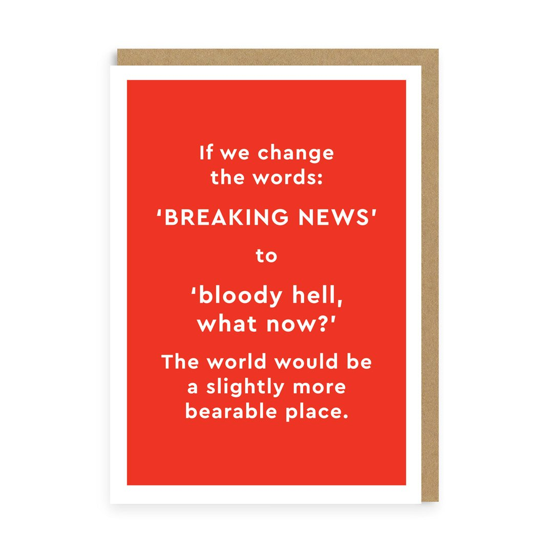 Breaking News.. Again! Greeting Card