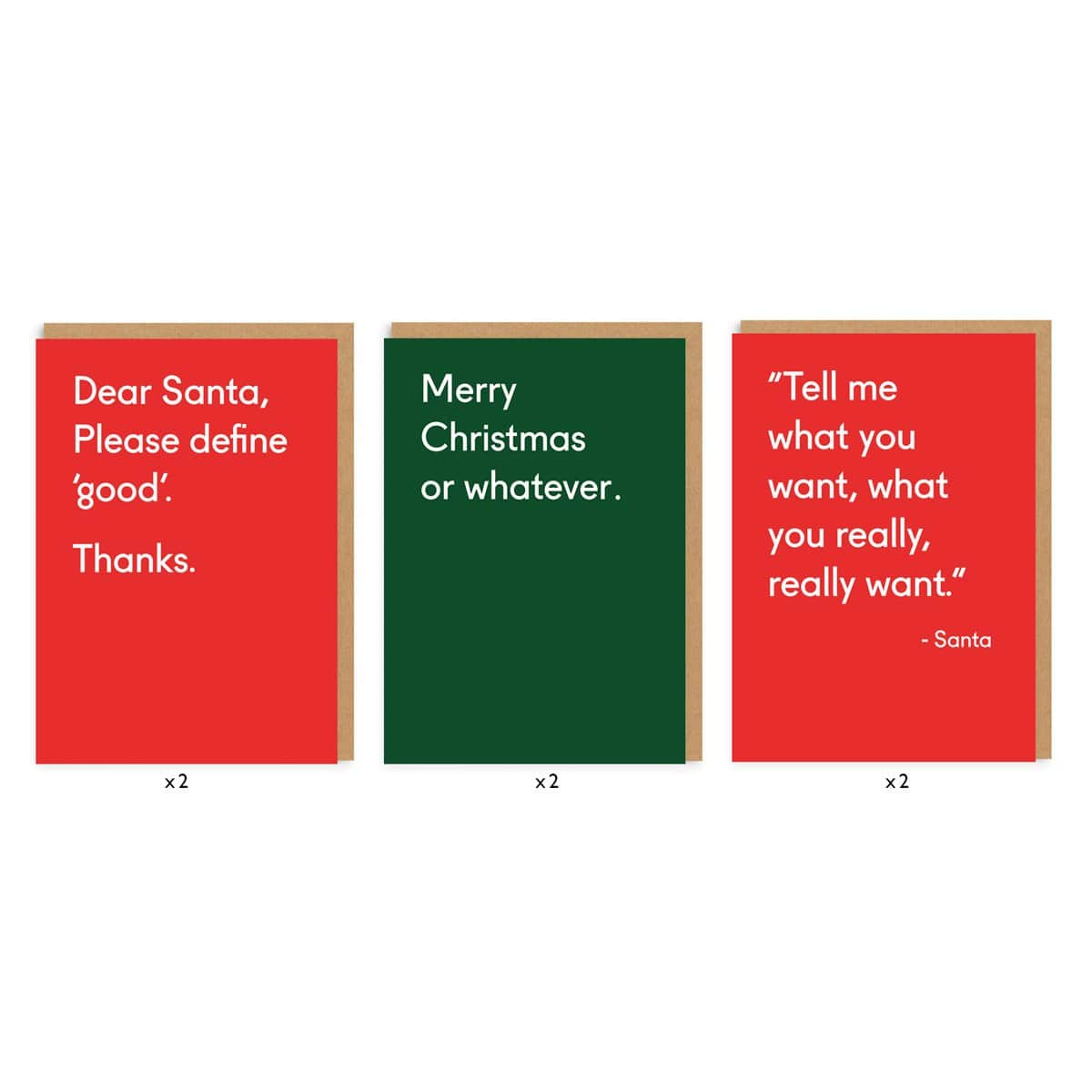 Merry Christmas Or Whatever Card Set