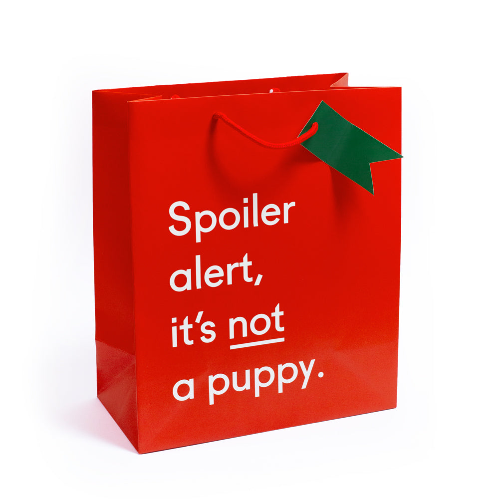 Spoiler Alert! It's Not A Puppy Large Christmas Giftbag