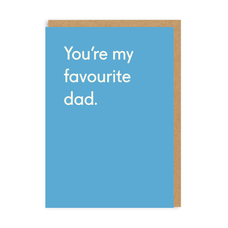 Favourite Dad Greeting Card