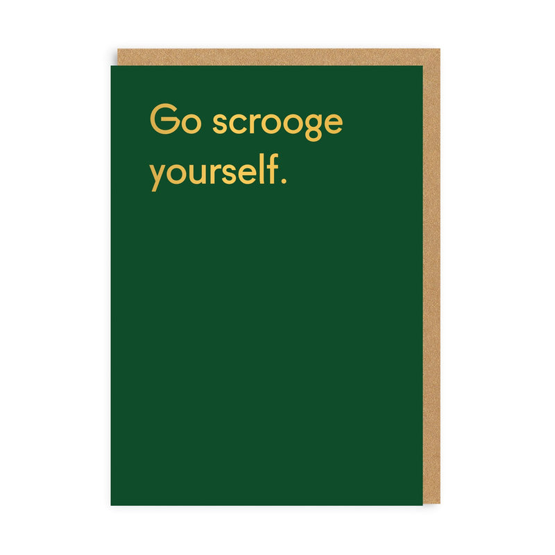 Go Scrooge Yourself Christmas Card