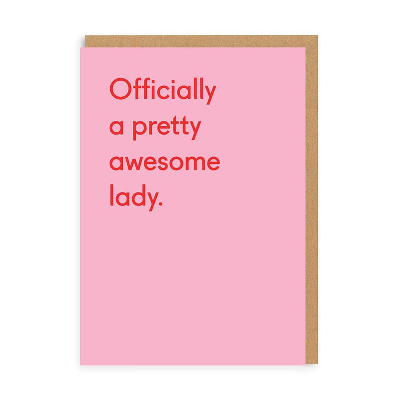 Awesome Lady Greeting Card