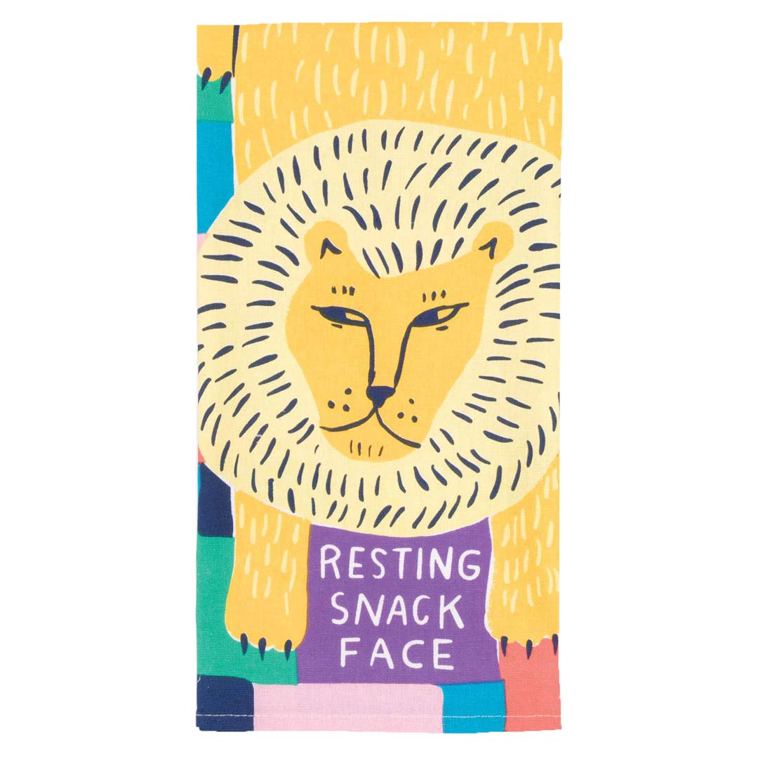 Resting Snack Face Tea Towel