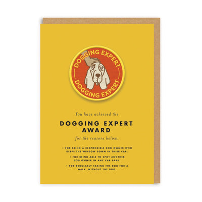 Dogging Expert Woven Patch Greeting Card