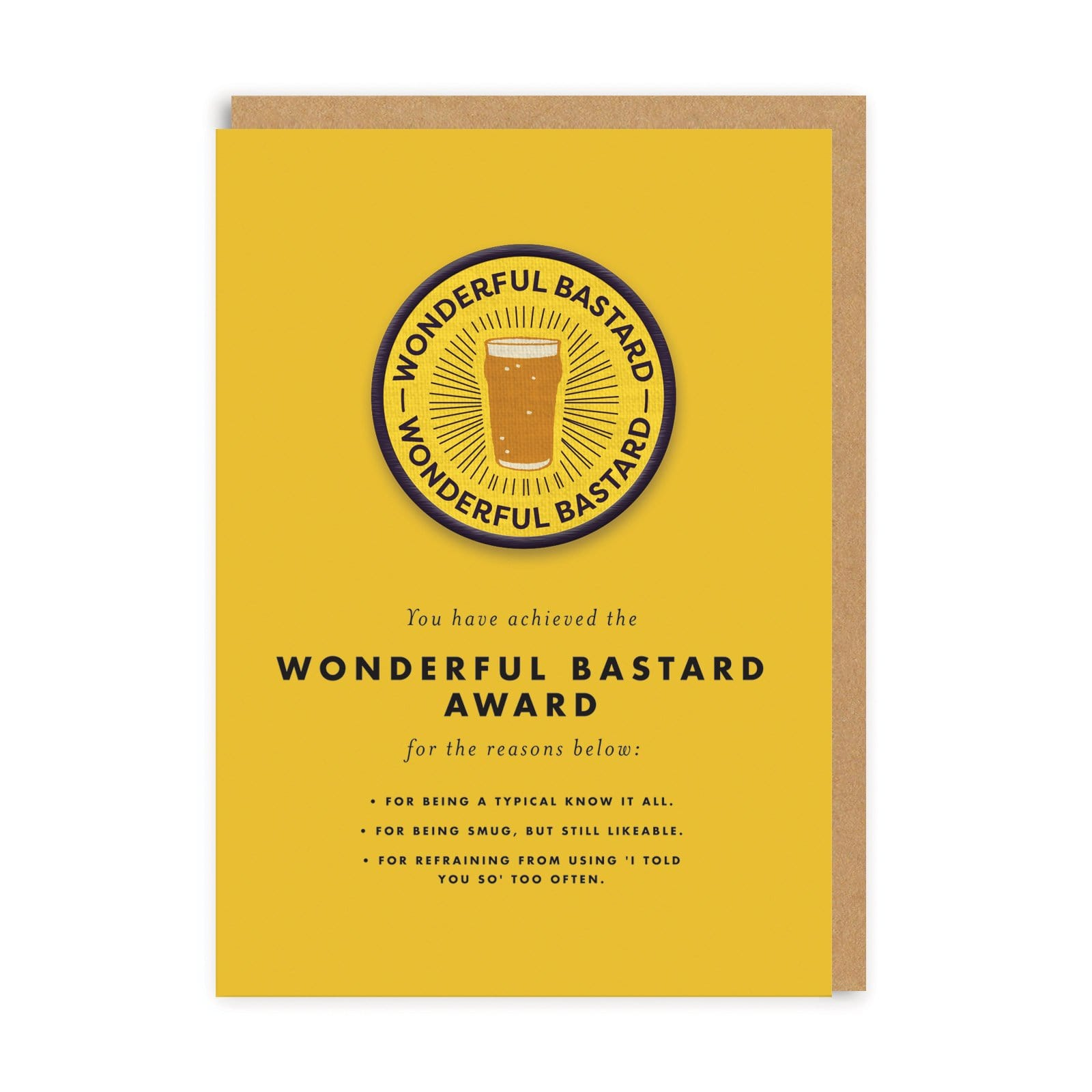 Wonderful Bastard Woven Patch Greeting Card