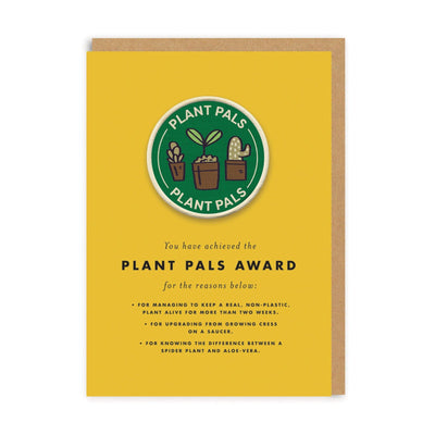 Plant Pals Woven Patch Greeting Card