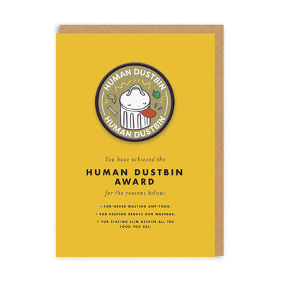 Human Dustbin Woven Patch Greeting Card