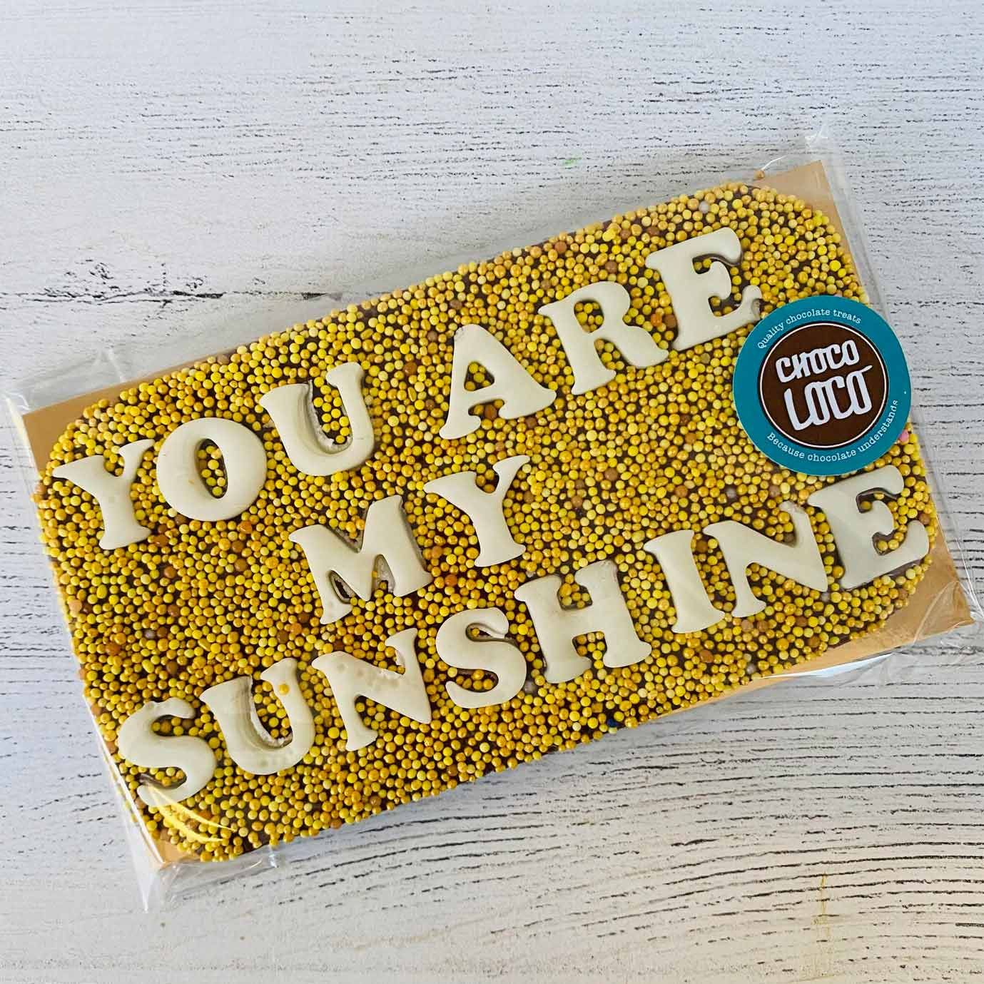 You Are My Sunshine Chocolate Bar
