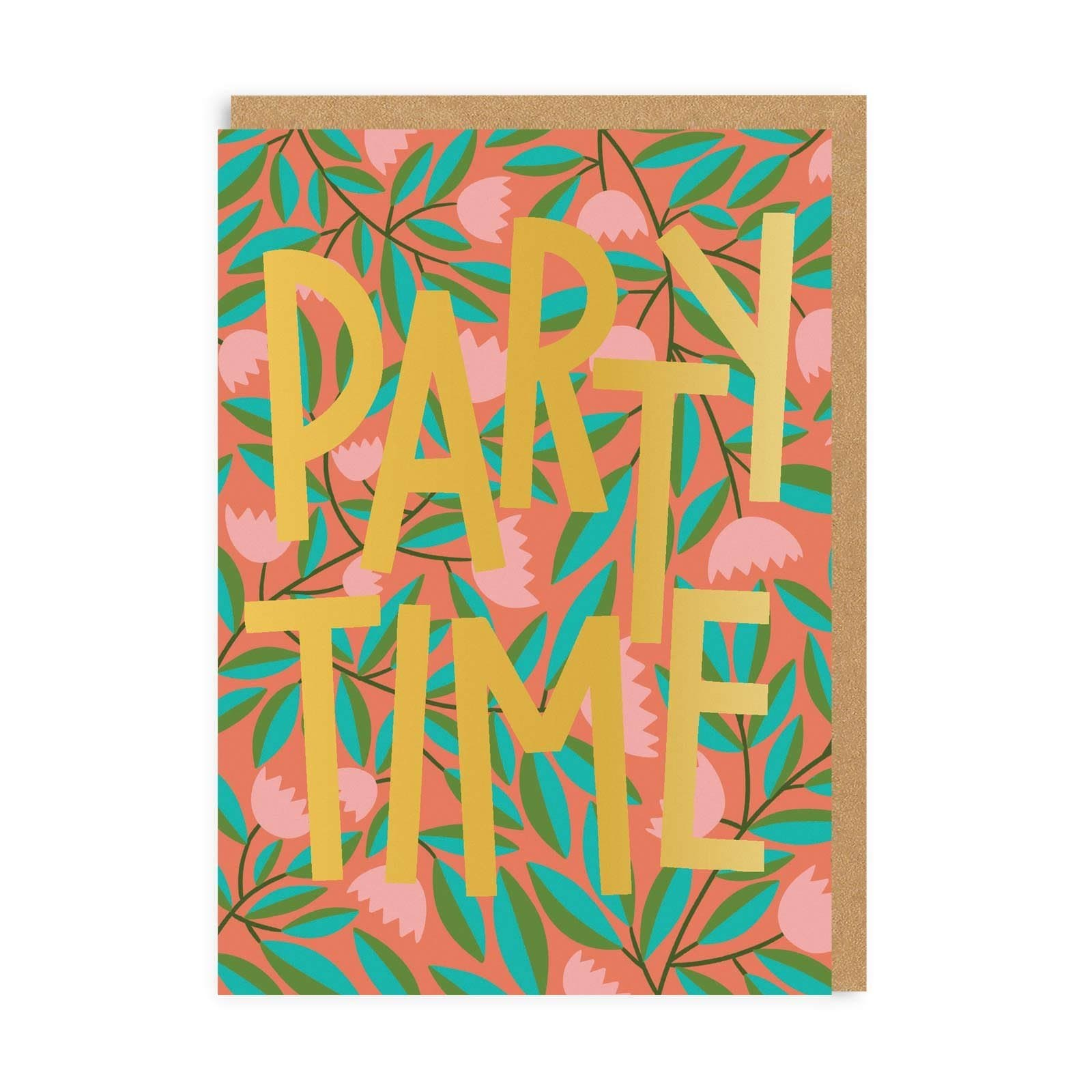 Party Time Birthday Greeting Card