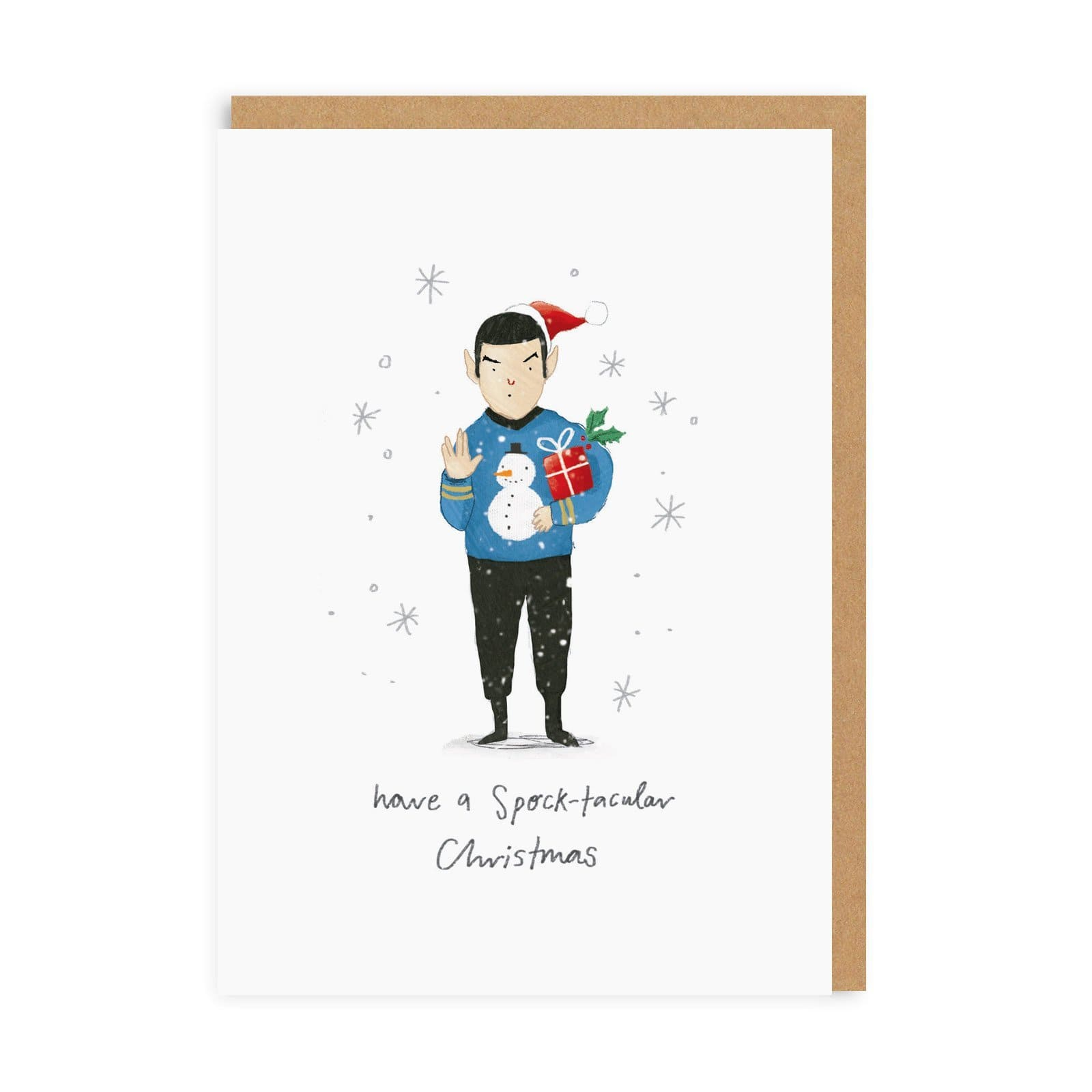 Spock-tacular Christmas Greeting Card