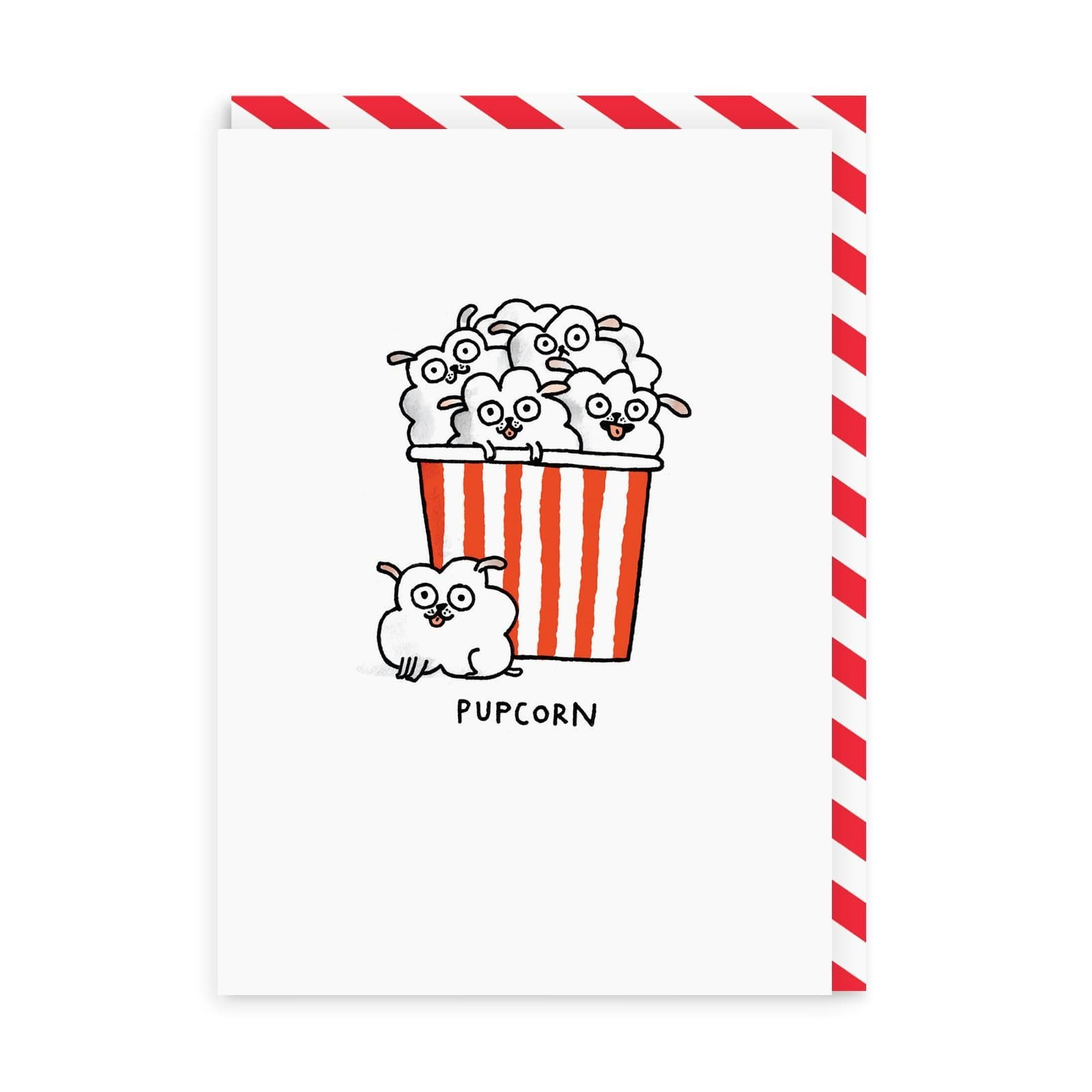 Pupcorn Greeting Card