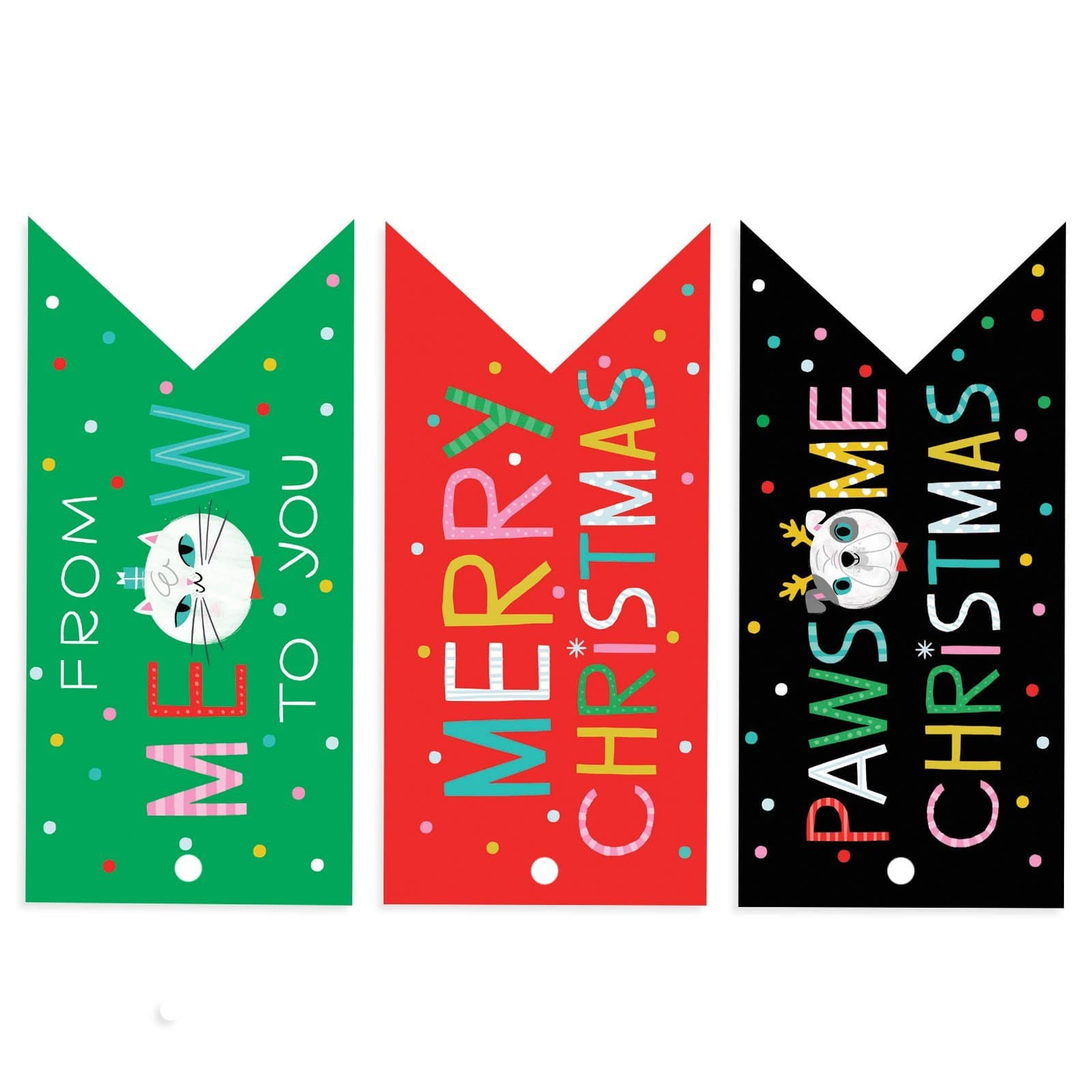 Christmas Cats and Dogs Tags