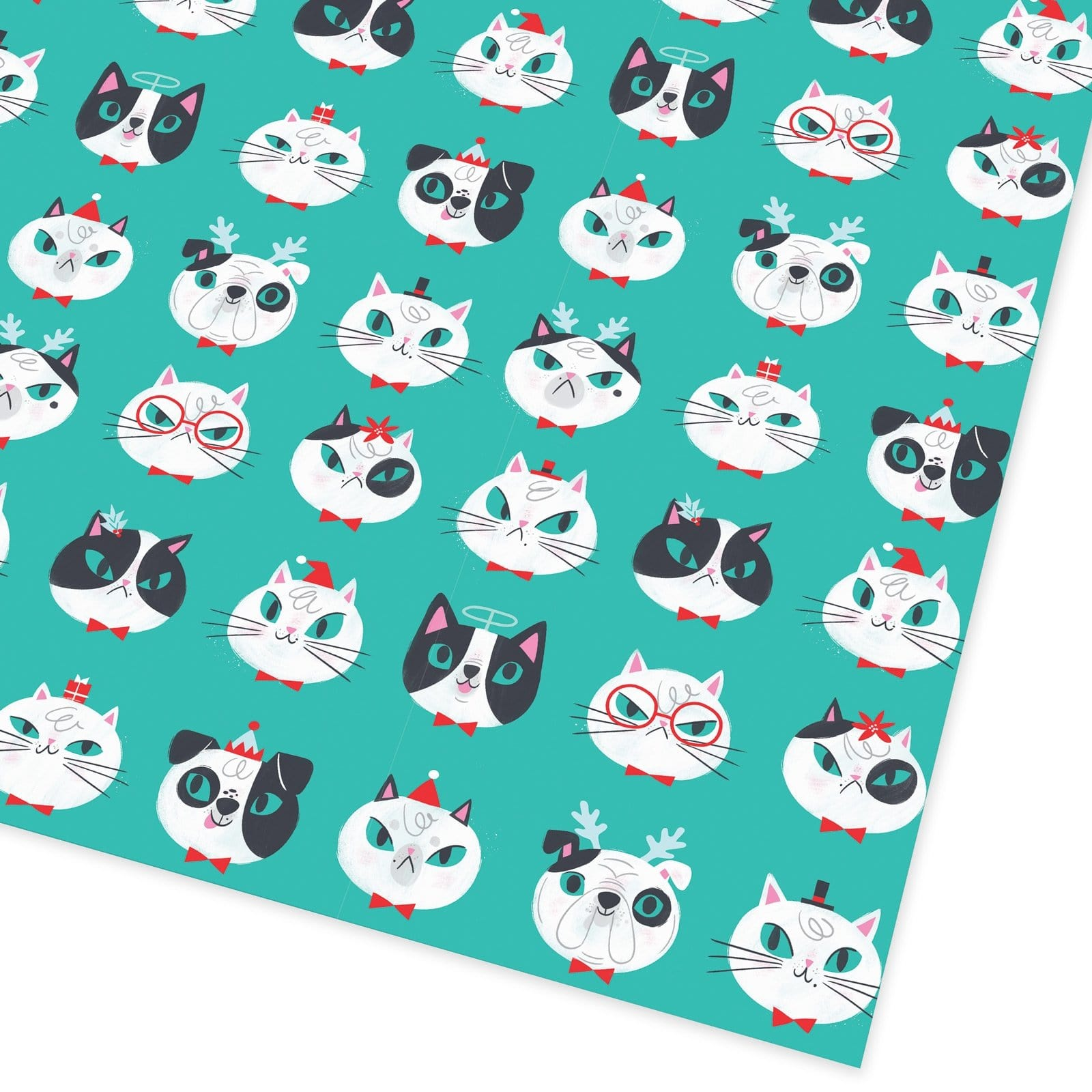 Christmas Cats and Dogs Giftwrap