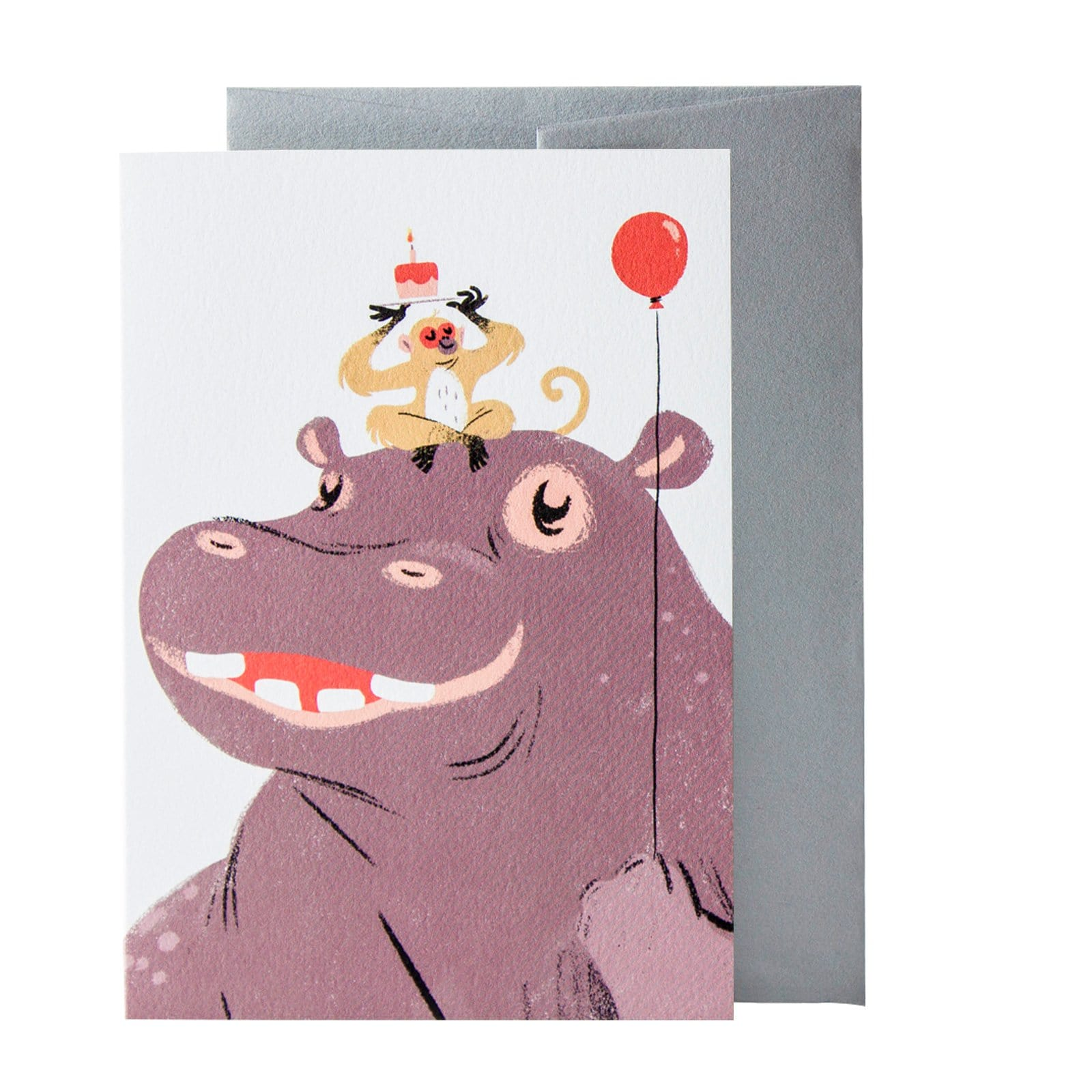 Hip Hip Hippo Greeting Card