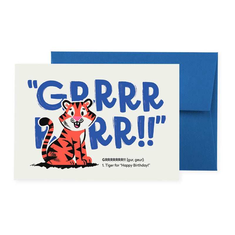 Tiger (GRRRRRRR!!) Greeting Card